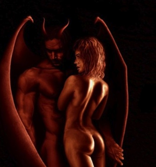 lucifer having erotic sex with him
