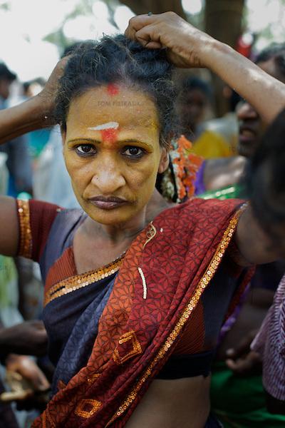 Transexual, transgenders and Aravani gay men in Tamil Nadu, India